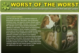 Worst of the Worst (courtesy of Rotten Tomatoes)